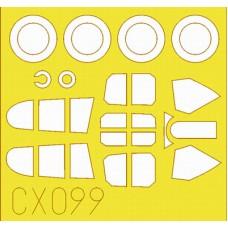 Eduard 1/72 Маски для самолета Curtiss P-40E Mk.I. № CX099