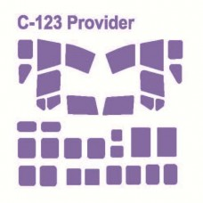 "KV Models 1/72 Маска-трафарет для самолёта Fairchild C-123/HC-123 ""Provider"" (Roden). № 72141"