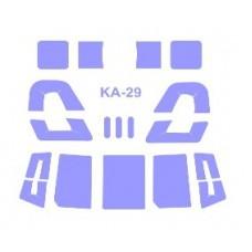 KV Models 1/72 Маска-трафарет для вертолёта КА-29 (Zvezda/NeOmega). № 72234