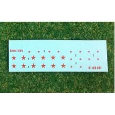 Foxbot 1/100 Декаль: Советские красные звезды. № 100-001