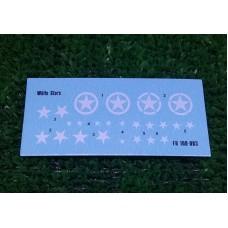 Foxbot 1/100 Декаль: Белые звезды (техника Союзников WW2). № 100-003
