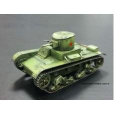 1/72 Советский лёгкий танк Т-26 с башней от БТ-2. № _405