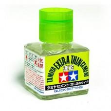 Tamiya Клей для пластиковых моделей, с кистью (быстросхватывающий, жидкий) 40 мл. № 87182