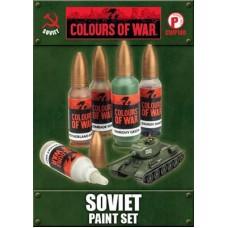 Flames of War 1/100 Набор красок для советской техники (5 красок). CWP140