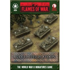 Flames of War 1/100 Американский взвод М24 Чаффи - 5 танков (M24 Chaffee Platoon). UBX33