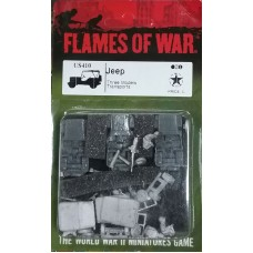 Flames of War 1/100 Американские Джипы (3 Джипа) (Jeep, Three Models). US410