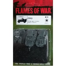 Flames of War 1/100 Американские Джипы (3 Джипа) (Jeep, Three Models). US411