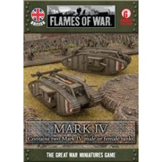 Flames of War 1/100 Британские танки Mark IV Tank (2 штуки), с возможностью собрать в виде Male и Female. GBBX01
