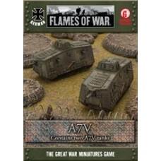 Flames of War 1/100 Германские танки A7V (Первая Мировая Война). GGBX01