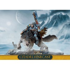 Space Wolves Wolf Lord on Thunderwolf (Finecast). № 53-41