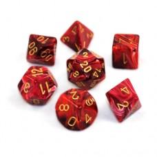 Chessex Набор кубиков серии  Vortex™, цвет Бургундия/Золото D&D Set (7 штук). № CHX27434