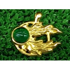 Медальон Комета Сигмара с зеленым камнем, Warhammer FB. № Z011
