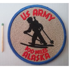 Нашивка 1948 US Army Issue 100 Miles Alaska Patch. № S012