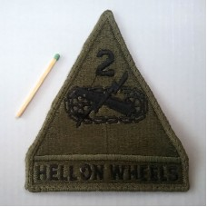 Нашивка U.S. Army 2nd Armored Division Hell on Wheels Patch. № S006