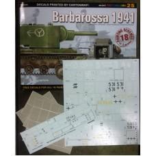 "Kagero ""Barbarossa 1941"" книга + декали (масштаб: 1/72 1/48 1/35). № 15025"