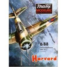 """Maly Modelarz 1/33 Британский учебно-тренировочный самолет """"Harvard"""" Mk.IIB. № 06/88"""