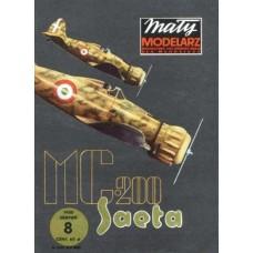 "Maly Modelarz 1/33 Итальянский истребитель Macchi Mc.200 ""Saetta"". № 08/85"