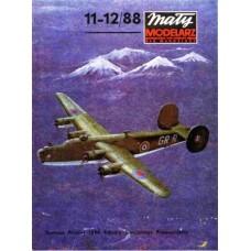 "Maly Modelarz 1/33 Тяжёлый бомбардировщик Consolidated B-24 ""Liberator"" ВВС Великобритании. № MMZ_11-12/88"