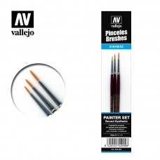 Acrylic Vallejo: Brushes Набор Кисточек Синтетических Круглых (Painter set (Round synthetic)). P54999