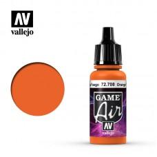 Acrylic Vallejo: Game Air Акриловая краска Orange Fire (Огненно-Оранжевый). 72708