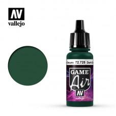 Acrylic Vallejo: Game Air Акриловая краска Dark Green (Тёмно-Зелёный). 72728