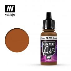 Acrylic Vallejo: Game Air Акриловая краска Brassy Brass (Яркая Латунь). 72758