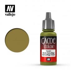 Acrylic Vallejo: Game Color Акриловая краска Camouflage Green (Камуфляжно-Зелёный). 72031