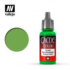 Acrylic Vallejo: Game Color Акриловая краска Scorpy Green (Скорпионский Зелёный). 72032