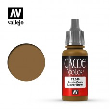 Acrylic Vallejo: Game Color Акриловая краска Leather Brown (Коричневая Кожа). 72040