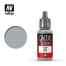 Acrylic Vallejo: Game Color Акриловая краска Silver (Серебро). 72052