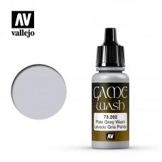 Acrylic Vallejo: Game Wash Акриловая проливка Pale Grey Wash (Бледно-Серая Проливка). 73202