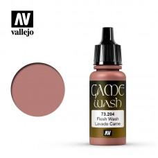 Acrylic Vallejo: Game Wash Акриловая проливка Flesh Wash (Телесная Проливка). 73204