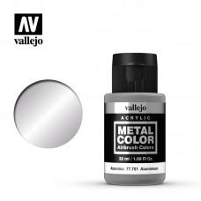 Acrylic Vallejo: Metal Color Акриловая краска Aluminium (Алюминий). 77701