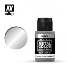 Acrylic Vallejo: Metal Color Акриловая краска Pale Burnt Metal (Бледный Жжённый Металл). 77704