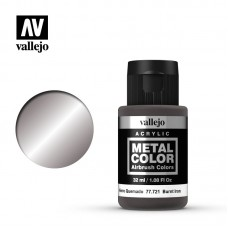 Acrylic Vallejo: Metal Color Акриловая краска Burnt Iron (Жжёное Железо). 77721
