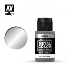 Acrylic Vallejo: Metal Color Акриловая краска Silver (Серебро). 77724