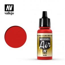 Acrylic Vallejo: Model Air Акриловая краска Red RLM23 (Красный RLM23). 71003