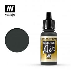 Acrylic Vallejo: Model Air Акриловая краска Olive Green (Оливковый Зелёный). 71007