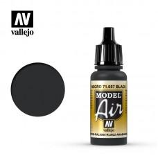 Acrylic Vallejo: Model Air Акриловая краска Black (Чёрный). 71057