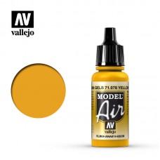 Acrylic Vallejo: Model Air Акриловая краска Yellow RLM04 (Жёлтый RLM04). 71078