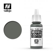 Acrylic Vallejo: Model Color Акриловая краска Gunmetal Grey (Оружейный Серый). 70863