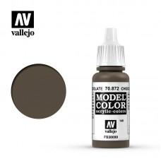 Acrylic Vallejo: Model Color Акриловая краска Chocolate Brown (Шоколадно-Коричневый). 70872