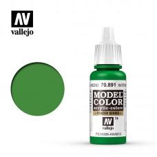 Acrylic Vallejo: Model Color Акриловая краска Intermediate Green (Промежуточный Зелёный). 70891