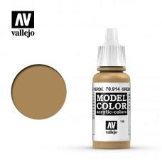 Acrylic Vallejo: Model Color Акриловая краска Green Ochre (Зеленоватая Охра). 70914