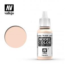 Acrylic Vallejo: Model Color Акриловая краска Light Flesh (Светлый Телесный). 70928