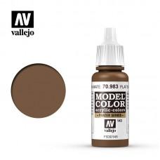 Acrylic Vallejo: Model Color Акриловая краска Flat Earth (Ровный Земляной). 70983