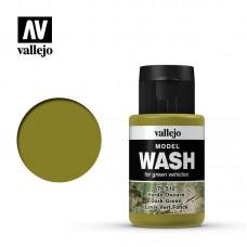 Acrylic Vallejo: Model Wash Акриловая проливка Dark Green (Тёмно-Зелёный). 76512
