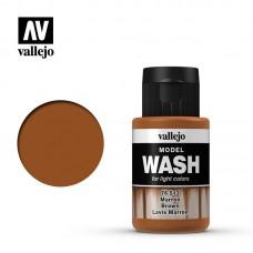 Acrylic Vallejo: Model Wash Акриловая проливка Brown (Коричневый). 76513