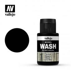 Acrylic Vallejo: Model Wash Акриловая проливка Black (Чёрный). 76518