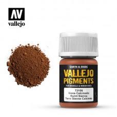 Acrylic Vallejo: Vallejo Pigments Пигмент Burnt Sienna (Жжёная Сиена). 73106